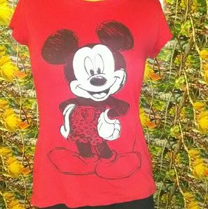 Short sleeve Mickey Mouse Disney shirt, size M